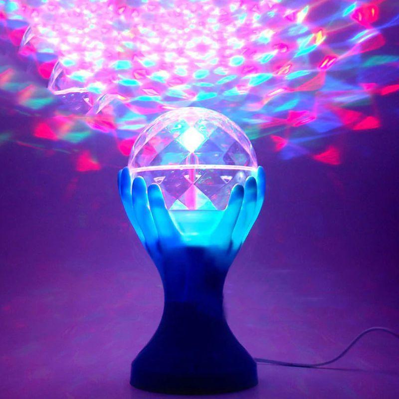 iizw Вращающийся светодиодный светильник Декоративный Шар на руках синей окраски (электросеть 220 В, высота 18 см) Новый, Гарантия, Доставка