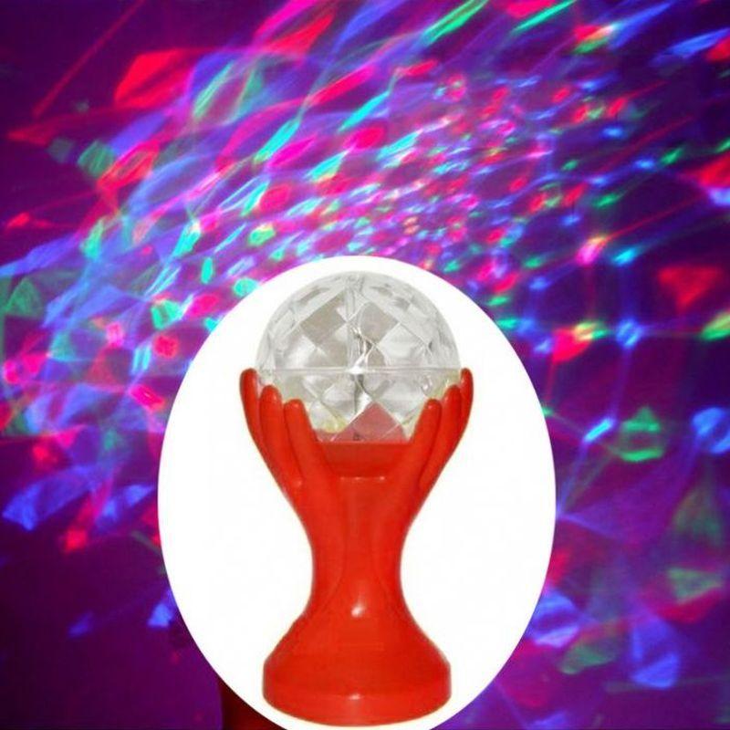 iizw Вращающийся светодиодный светильник Декоративный Шар на руках красной окраски (электросеть 220 В, высота 18 см) Новый, Гарантия, Доставка