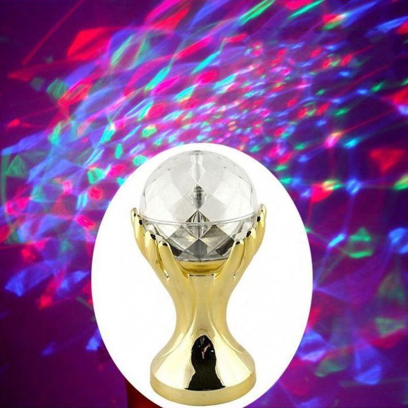 iizw Вращающийся светодиодный светильник Декоративный Шар на золотых руках (электросеть 220 В, высота 18 см) Новый, Гарантия, Доставка