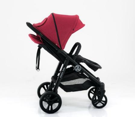 Прогулочная детская всесезонная коляска BabyZz Rally, красная