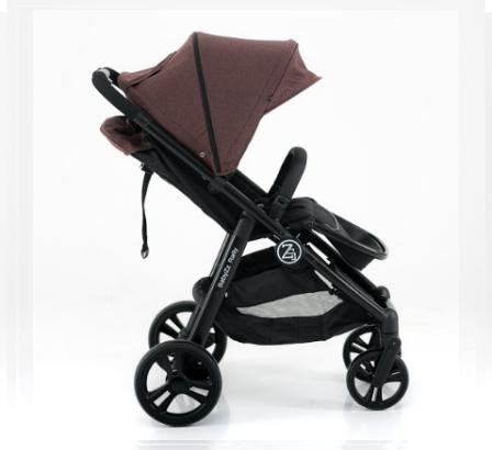 Прогулочная детская всесезонная коляска BabyZz Rally, коричневая