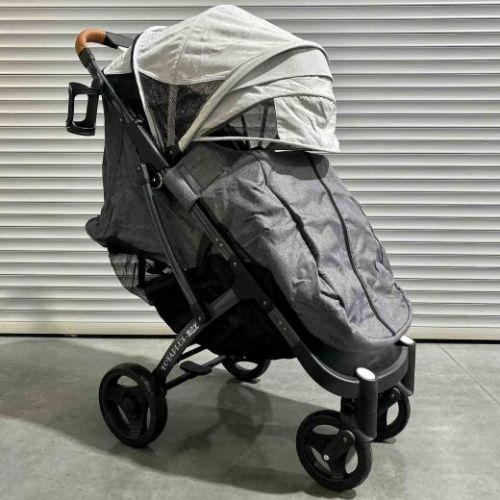 Коляска детская прогулочная Yoya Plus MAX серая/светло-серая на темной раме