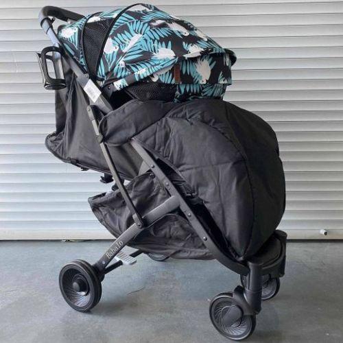 Прогулочная коляска Babalo S007 Райская птица текстиль на черной раме полный комплект