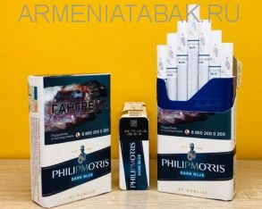 (173)PHILIPMORRIS dark blue (Duty free)
