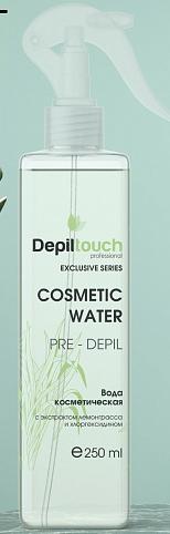 Косметическая вода перед депилящией с экстрактом лемонграсса а хлоргекседином, 250 мл. Depiltouch Exclusive series