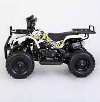 MOTAX Mini Grizlik Х-16 электростартер Квадроцикл бензиновый белый 2
