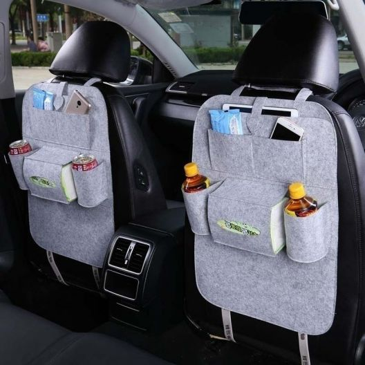 iizw Универсальный автомобильный органайзер с системой крепления на спинку переднего сидения StorageBag (светло-серый) Новый, Гарантия, Доставка