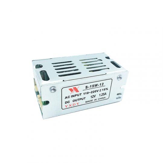 Блок питания 220V AC / 12V DC 1.25А. 15 Вт