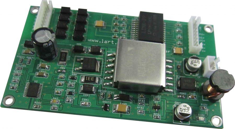 Встраиваемый модуль PoE+  Splitter  12 Вольт 25Ватт ЛАРТ LMP-12V