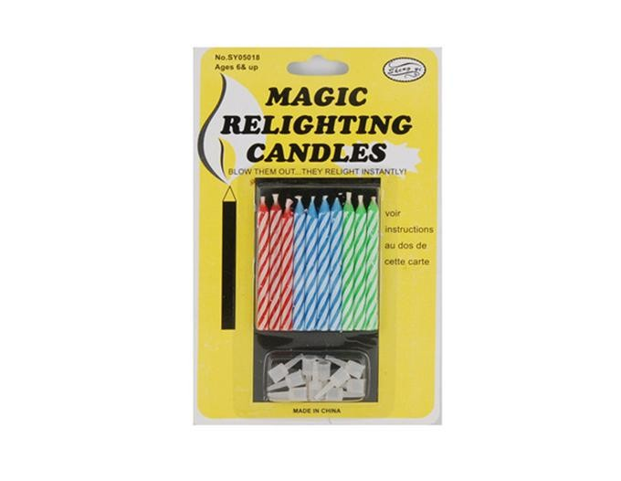 Незадуваемые свечи для торта Magic Relighting Candles