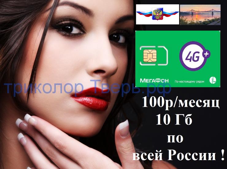 пакетная сим мегафон ( трафик 10 Гб за 100р/мес )