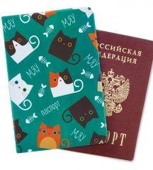 """Обложка для паспорта """"Мяу-мяу"""""""