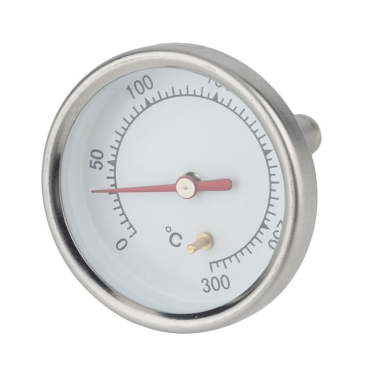 Термометр из нержавеющей стали для измерения температуры 0 - 300 градусов.Гриль.Коптильни.Барбекю.