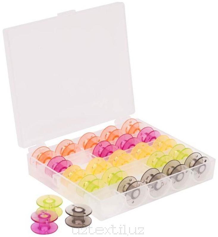 Набор шпулек для бытовых швейных машин (25 штук)