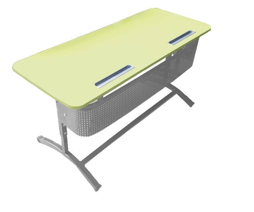"""Стол ученический """"Асташка-2"""" двухместный регулируемый, объемный фронтон, с регулировкой наклона столешницы №2-4, 3-7"""