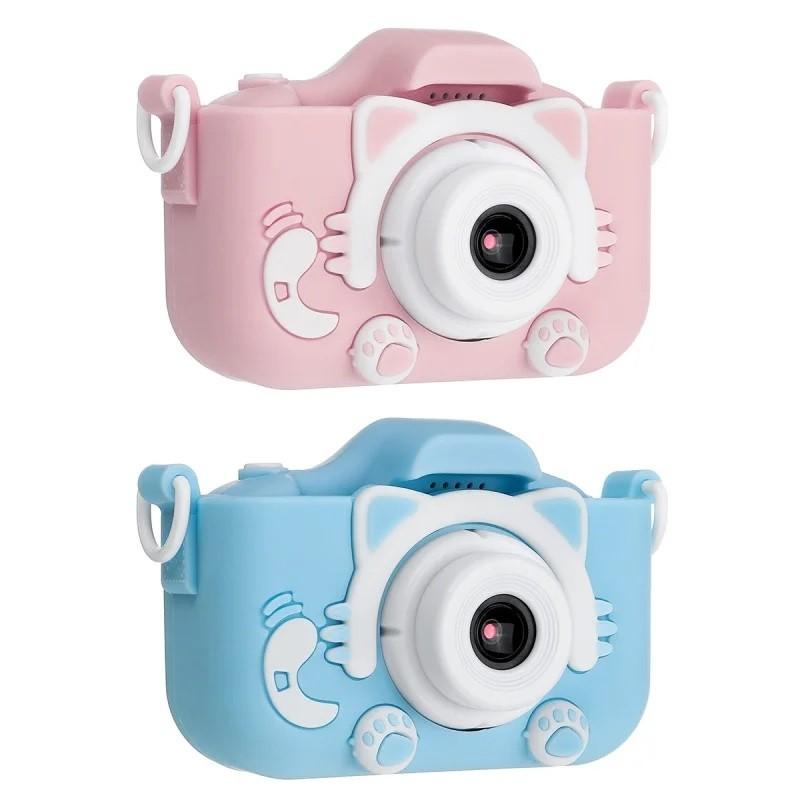 Детский цифровой фотоаппарат Children's Fun Camera Cute Kitty