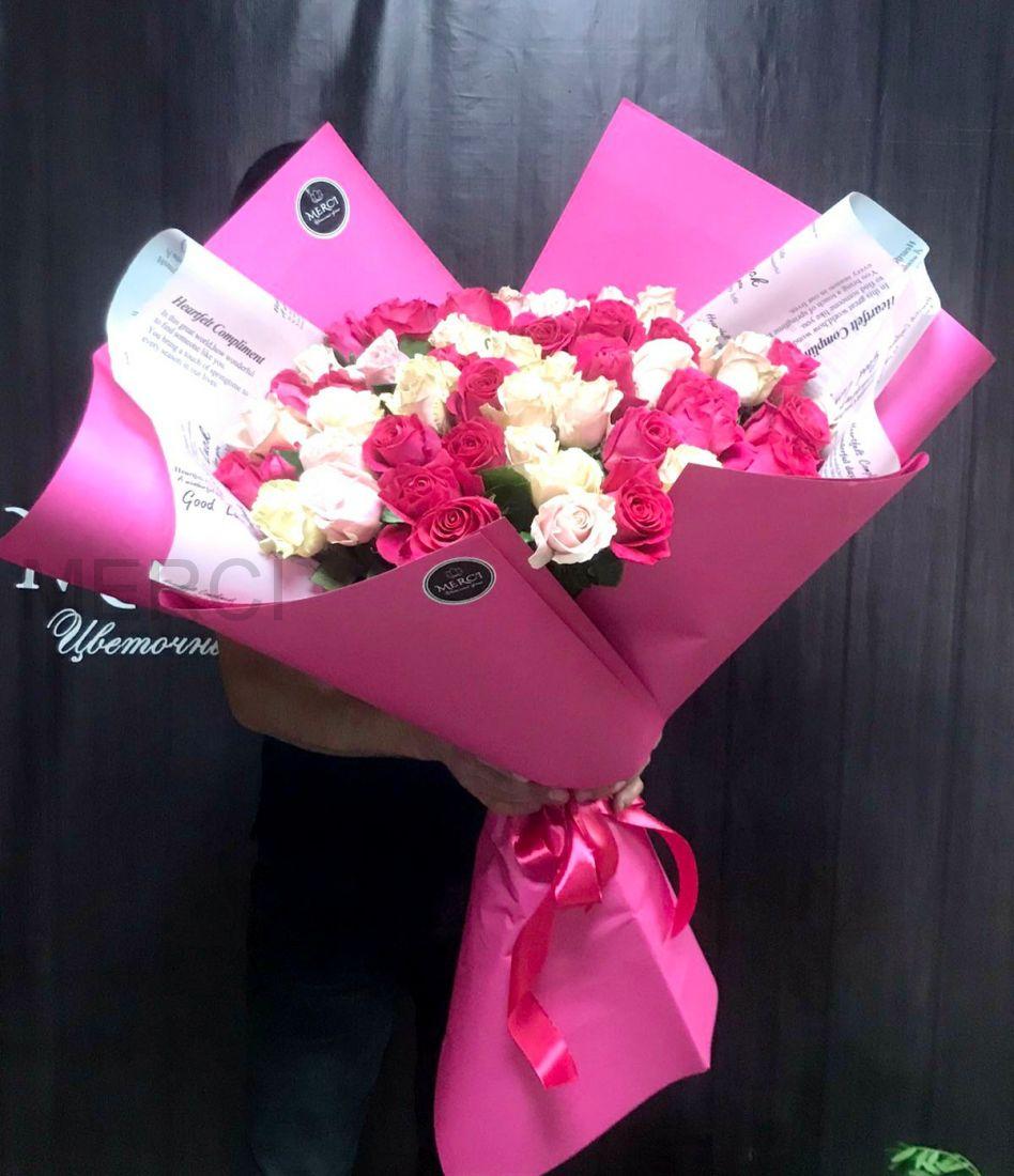 Букет-гигант из 51 розы
