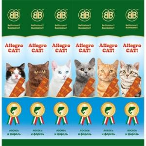 Колбаски B&B Allegro для кошек с лососем и форелью 1шт