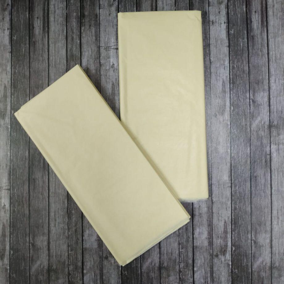 Бумага упаковочная тишью, айвори, 50х66 см, набор 10 листов