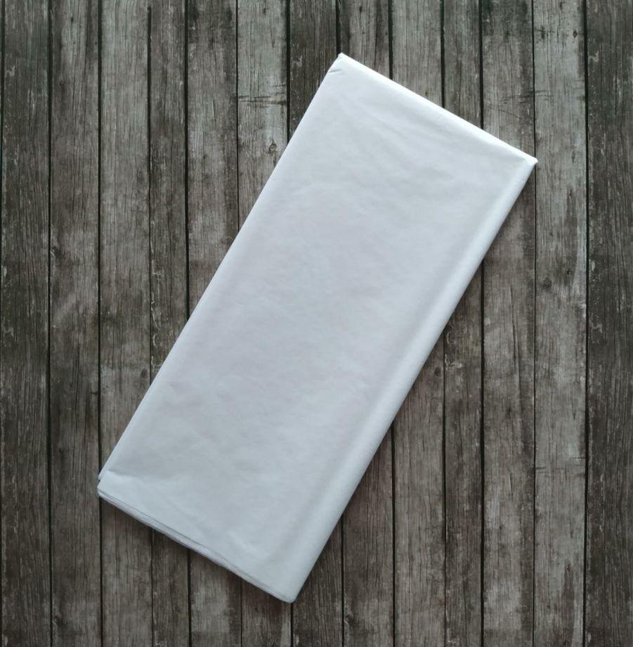 Бумага упаковочная, подарочная. Тишью. белый. 50х66 см. 10 листов.