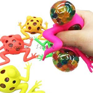 Лягушка АНТИСТРЕСС с шариками ОРБИС в ассортименте