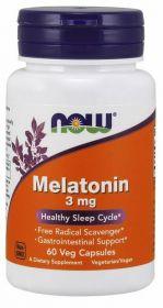 NOW Melatonin 3 мг 60 капсул