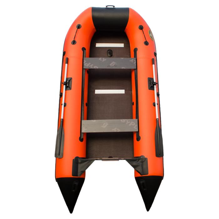 Пилигрим 340 оранжево-черный (лодка ПВХ усиленная)