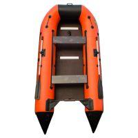 Пилигрим 360 оранжево-черный (лодка ПВХ усиленная)