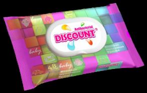 ТМ «Discount» 48 влажная туалетная бумага детская