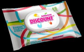 ТМ «Discount» 48 влажная туалетная бумага для всей семьи