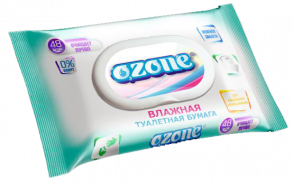 ТМ «Ozone» 48 влажная туалетная бумага для всей семьи