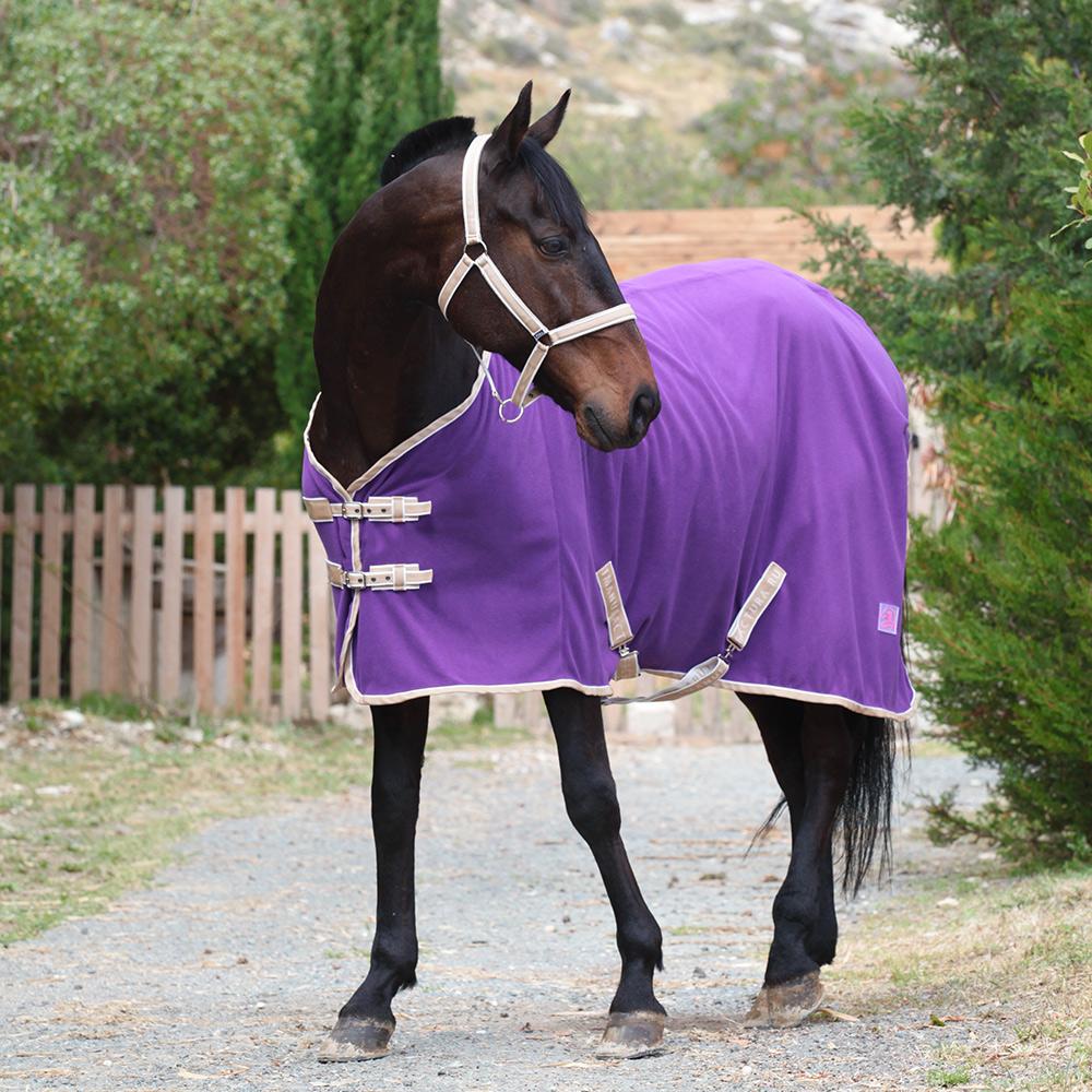 Попона флисовая BASIC фиолетовый