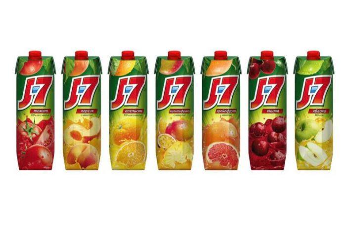 Сок «J7» в ассортименте 1 л