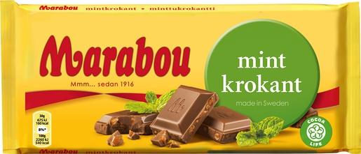 Шоколад Marabou Молочный шоколад с мятой 200г