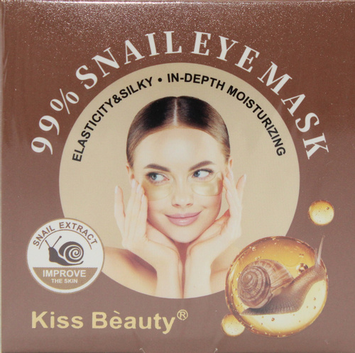 Гидрогелевые патчи с муцином улитки, 60 шт. 99% Snail eye mask Kiss beauty