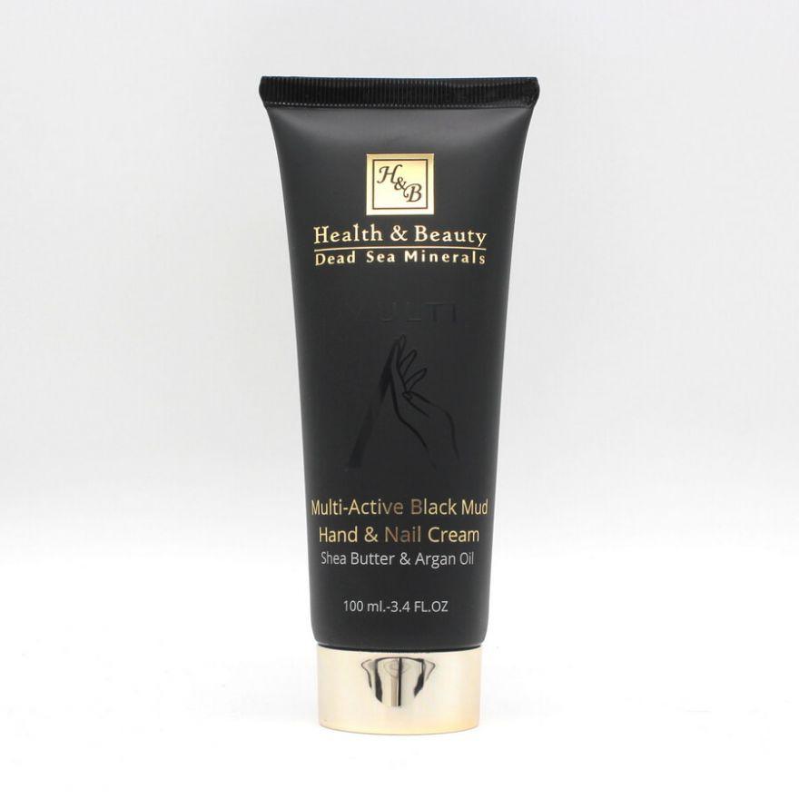 Крем для рук и ногтей мультиактивный с грязью мёртвого моря Health & Beauty BLACK (Хелс энд Бьюти Блэк) 100 мл