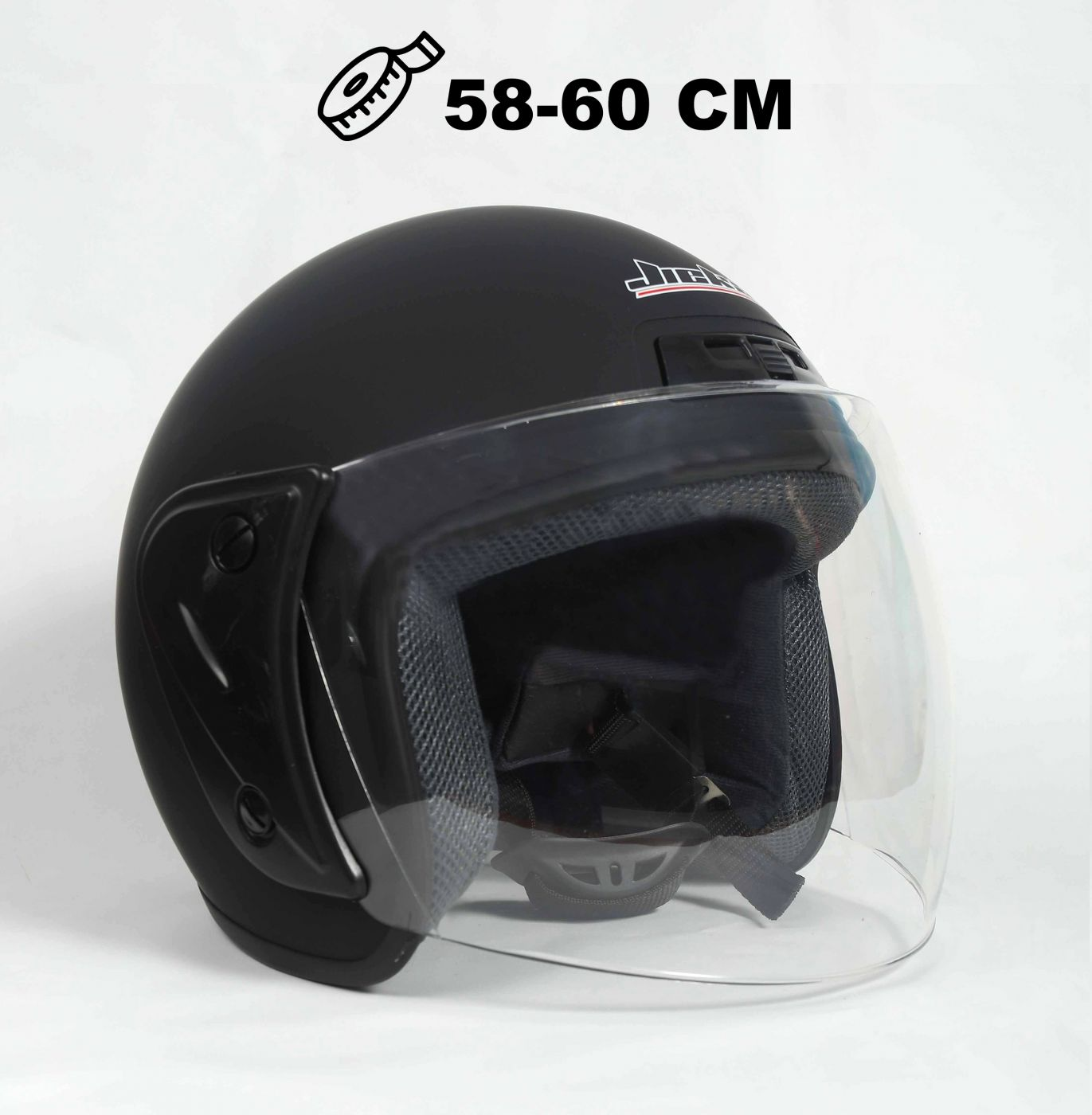 Шлем открытый Jiekai 202 mattblack