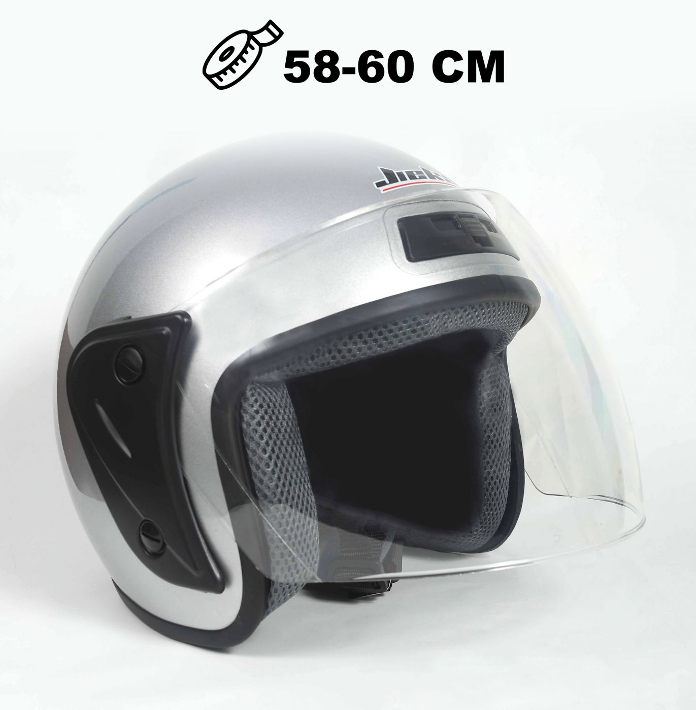 Шлем открытый Jiekai 202 silver