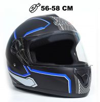 Шлем интеграл Safebet 112 matt black, blue фото 1