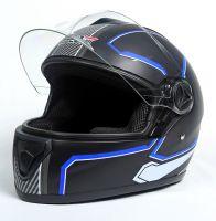 Шлем интеграл Safebet 112 matt black, blue фото 3