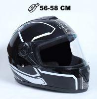 Шлем интеграл Safebet 112 black, white фото 1