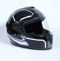 Шлем интеграл Safebet 112 black, white фото 2