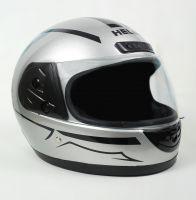Шлем интеграл Helmo HZF03 Silver-Black фото 2
