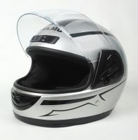 Шлем интеграл Helmo HZF03 Silver-Black фото 3