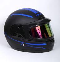 Шлем интеграл Helmo Double Glass Black-Blue фото 2