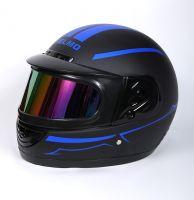 Шлем интеграл Helmo Double Glass Black-Blue фото 3