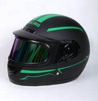Шлем интеграл Helmo Double Glass Black-Green фото 3