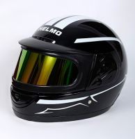 Шлем интеграл Helmo Double Glass Black-White фото 3