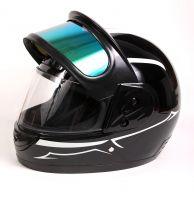 Шлем интеграл Helmo Double Glass Black-White фото 7
