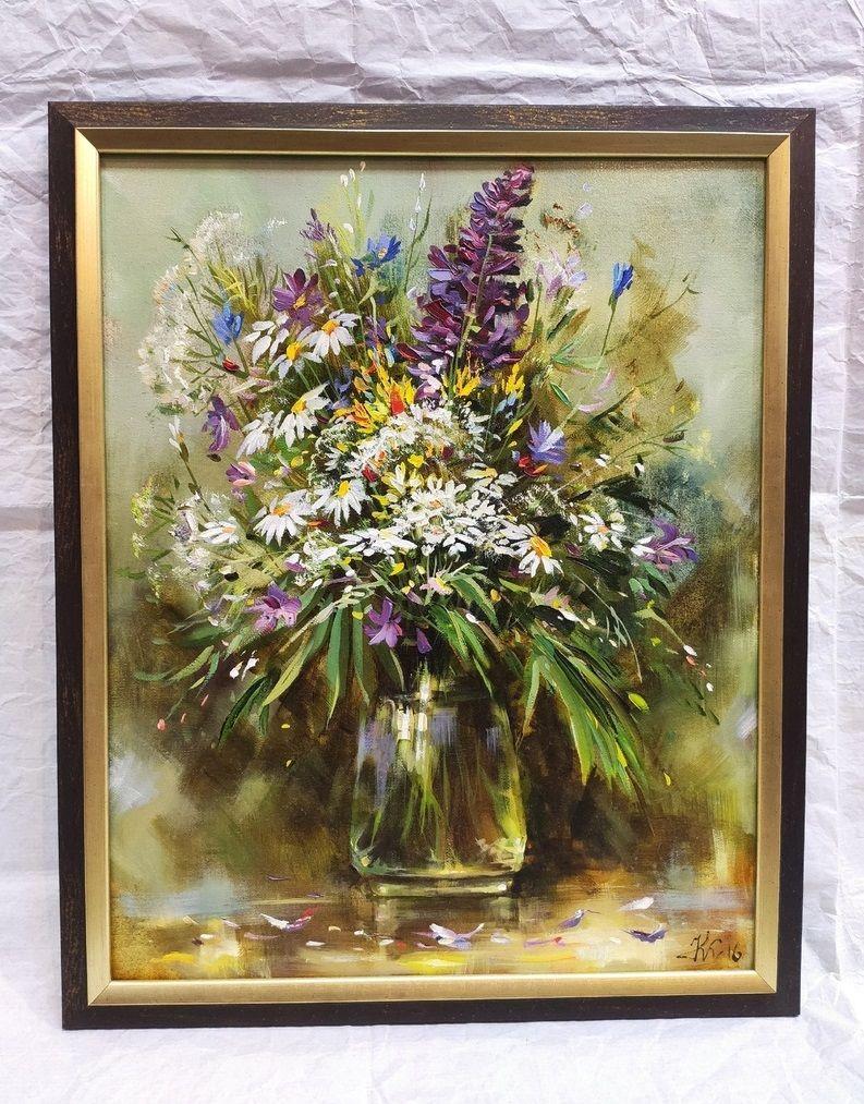"""Картина """"Полевые цветы""""."""